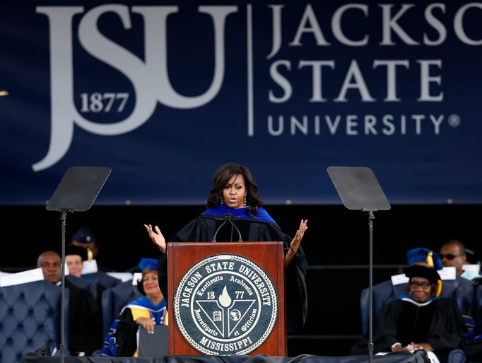 michelle obama commencement speech jackson state