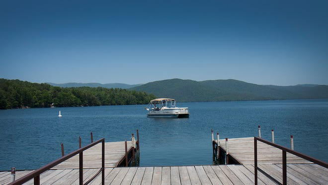 An Anderson woman was found in shallow water at Lake Keowee.