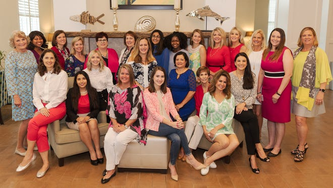 The Junior League of Indian River's 2018 Woman of the Year nominees are, from left, standing, Donna Robart, Kelly Jean Hills, Moreen Burkart, Betsy Wengler, Kim Artlip, Kim Prado, Donna Clements, Sana Shareef, Lillie Harris, Stella Buckley, Jackie Savell, Ophelia Angelone, Jodi Harvey, Theresa Tolle, and Megan Raasveldt; seated, Cathy DeSchouwer, Jacqueline Zamora, Lindsay Bass, Angel Pietsch, Hannah Trodglen Hite, Carmen Noonan, Anne Lanier, Cindy Goetz, and Elizabeth Sorensen. Not Pictured: Harley Campbell and Samantha Chabot.