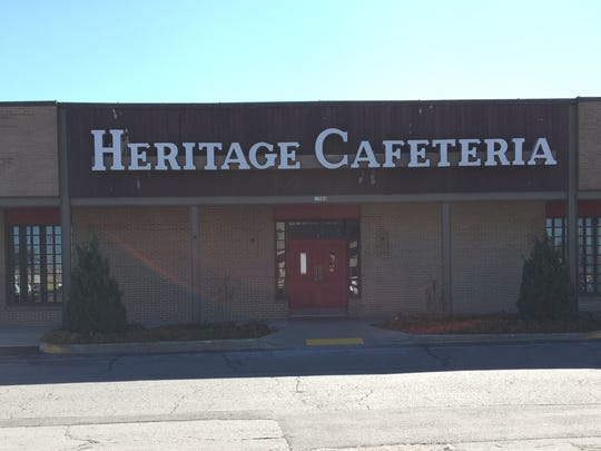 The vacant Heritage Cafeteria building as photographed March 2, 2017 by News-Leader columnist Steve Pokin.