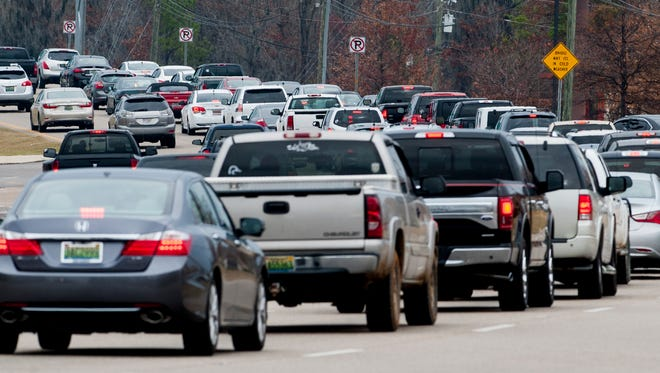 Traffic on Taylor Road at EastChase in Montgomery, Ala. on Thursday December 22, 2016.