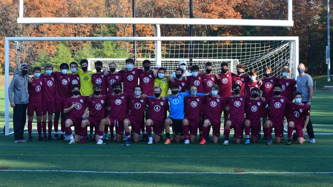 The Concord-Carlisle boys soccer team after clinching the Dual County League Large tournament title with a 3-0 win over Lincoln-Sudbury. C-C finished the year 11-1.