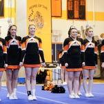 Union-Endicott varsity compete Sunday at the STAC Cheerleading Championships at Union-Endicott High School.