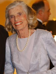 Eunice Kennedy Shriver arrives at the Golden Jubilee