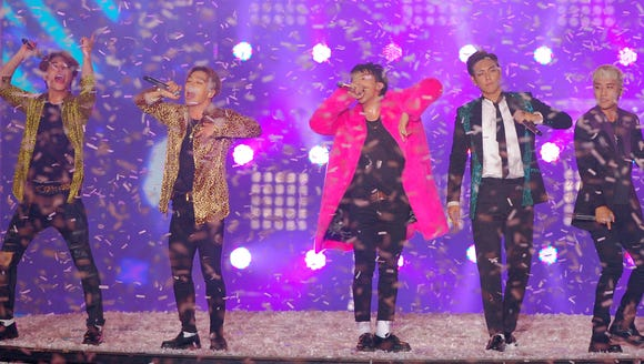 Big Bang perform onstage during the 2015 Melon Music