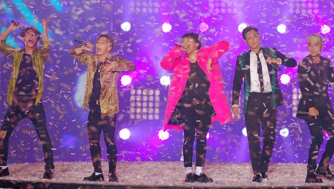 Big Bang perform onstage during the 2015 Melon Music Awards at Olympic Park on November 7, 2015 in Seoul, South Korea.