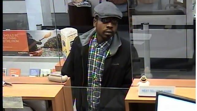 Police are searching for a man they say robbed a Concord Pike bank on Monday.