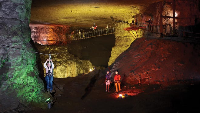 The largest building in Kentucky is the aptly named Louisville Mega Cavern, a former limestone mine that has reinvented itself as a recreation, touring, office and storage center, with a zipline, tours and a mountain bike park.