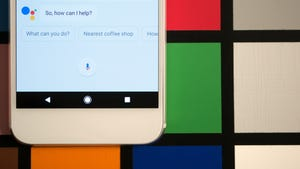 Google Assistant on a Google Pixel phone