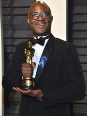 "Filmmaker Barry Jenkins attends the 2017 Vanity Fair Oscar Party. Jenkins' ""Moonlight"" won Best Picture at that year's Academy Awards."