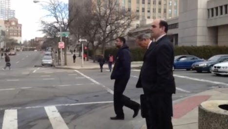 Spyros Panos leaves court.