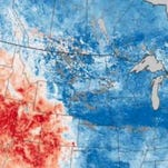 See climate contrasts on new map from NASA