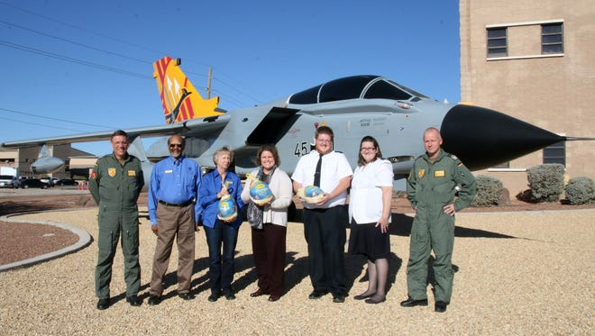 Colonel Heinz-Josef Ferkinghoff, Commanding Director of the German Air Force Flying Training Center (left), and Lieutenant Colonel Stephan Breidenbach, Commander of the German Air Force Flying Training Center (right), were delighted to present a donation of turkeys for the upcoming Thanksgiving holiday to three local Alamogordo charities. A total of sixty Turkeys were handed over to the Salvation Army of Alamogordo, the Senior Lutheran Church of Alamogordo and the Cottonwood Church of Alamogordo.