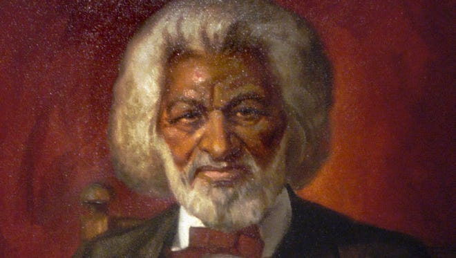 Looking back: A painting of Frederick Douglass by Irondequoit painter Stanley Gordon, that was on display in the Rochester Museum & Science Center's 2003 exhibit on the famed abolitionist.