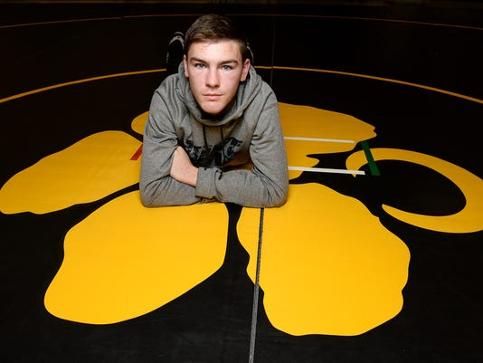Murphy McBride of Crescent wrestling