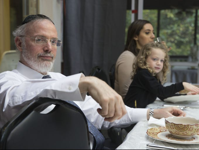 Rabbi Aaron Kotler and his family celebrate the holiday