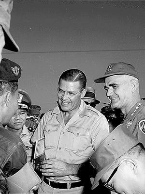 Former secretary of Defense Robert McNamara in Da Nang, Vietnam, in 1965.