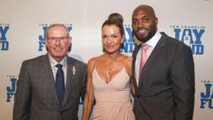 Tom Coughlin, Maj Moeller Toomer, Amani Toomer. The