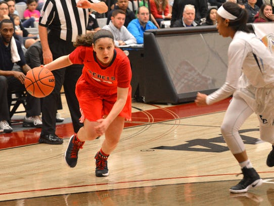 Saddle River Day sophomore guard Michelle Sidor and