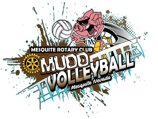 Flyer for Mesquite Rotary Club's 2018 Mudd Volleyball