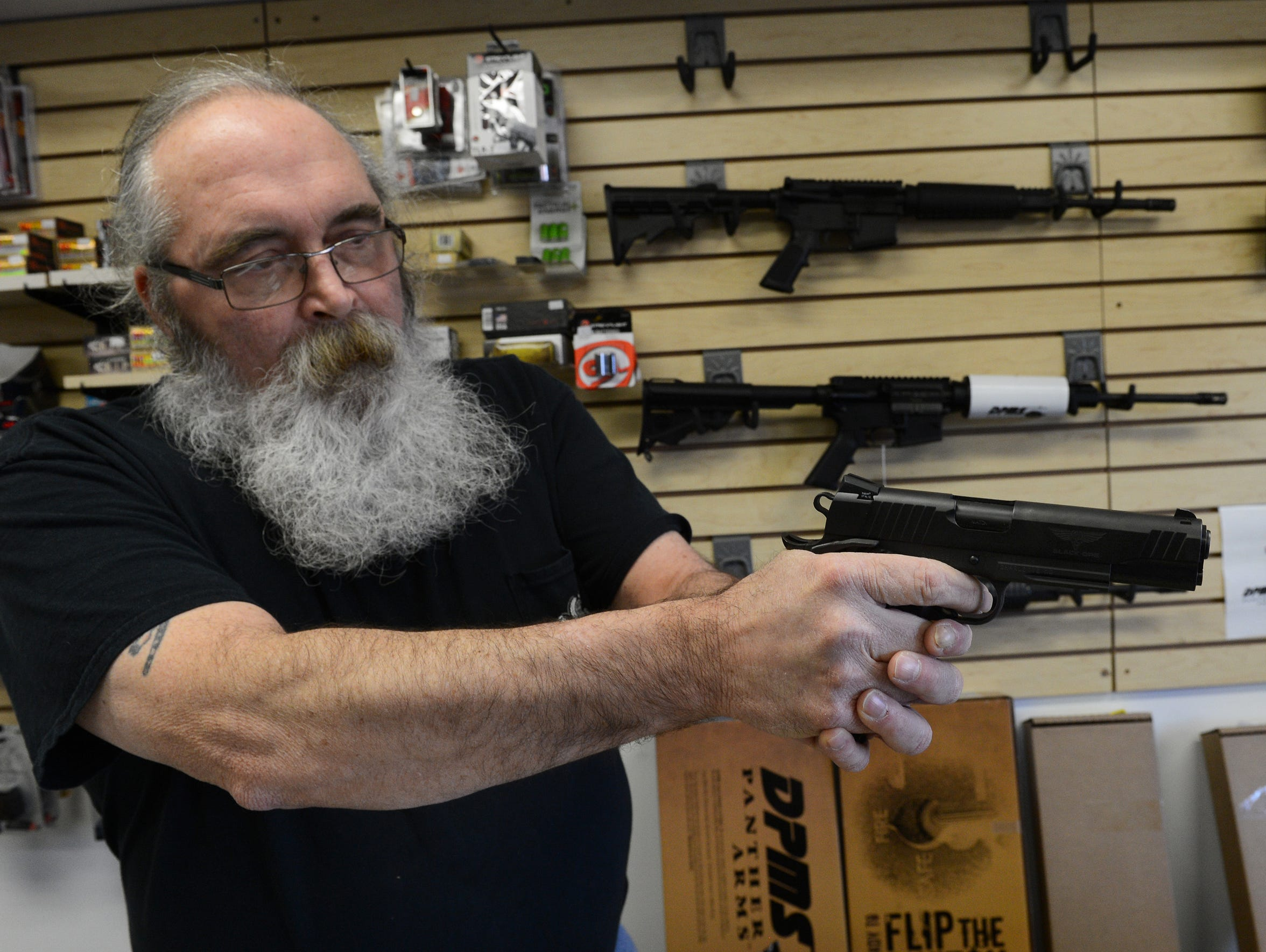 Bob Brady owner of Northampton Firearms in Cape Charles,