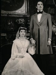 Katharine Hepburn and Dennis Hoey play Jane Eyre and