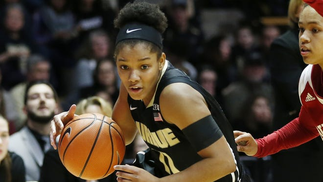 FILE -- Dominique Oden of Purdue, playing against Indiana. She made two key 3-pointers to help the Boilers beat Maryland.