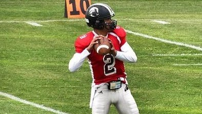 Roberson alum Reggie Pinner is now a quarterback at UNC Pembroke.