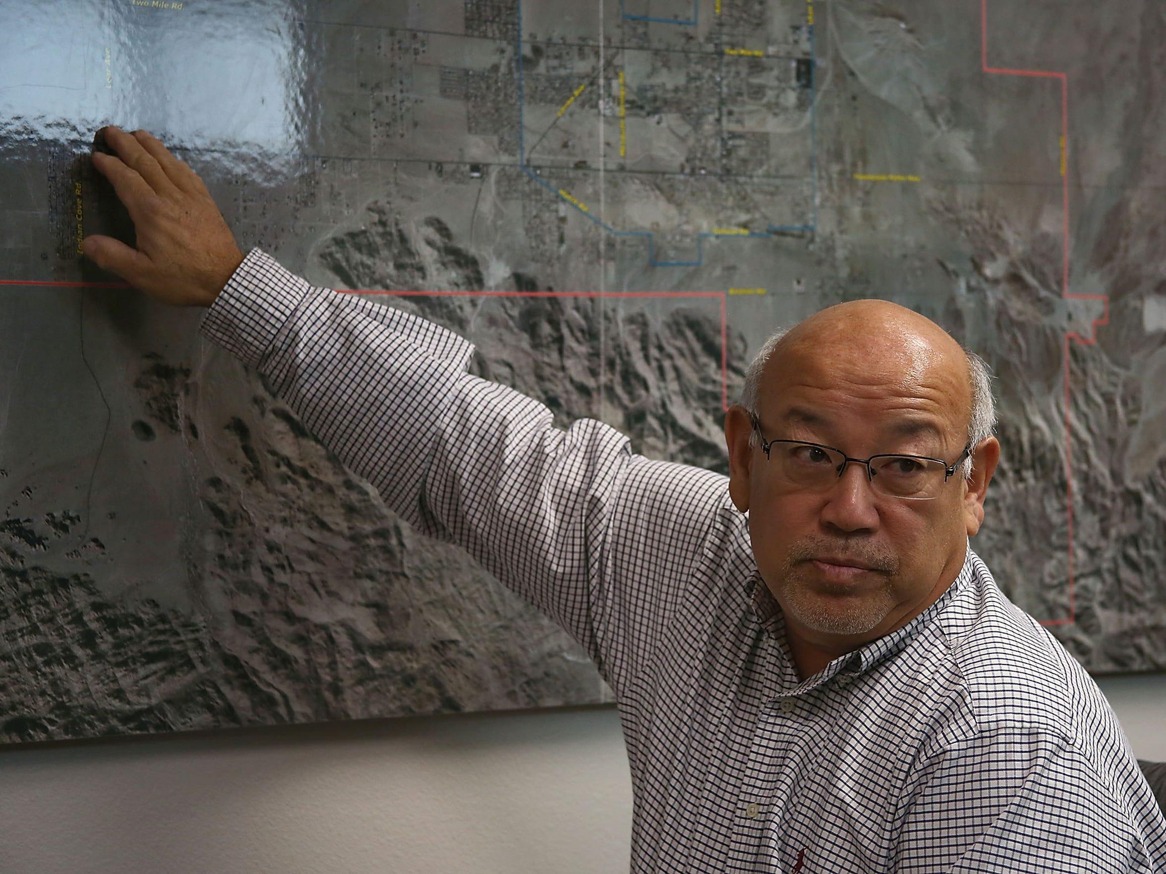 Twentynine Palms city manager Andy Takada talks about