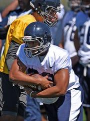 Sophomore running back Kelton Moore turned heads during spring camp.