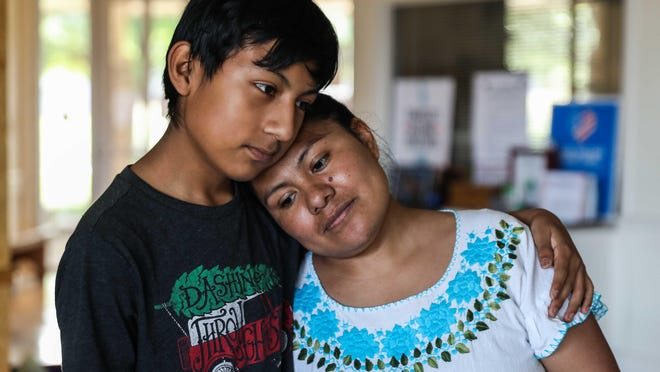 Asylum-seeker Hilda Ramirez has lived with her son, Ivan, at St. Andrew's Presbyterian Church in Austin for four years as she seeks legal immigration status in the United States.