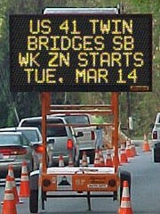 2017 was another year of lane restrictions and traffic jams on the Twin Bridges as more work was done on the aging structures.