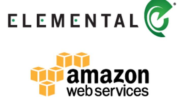 The logos of Elemental Technologies and Amazon Web