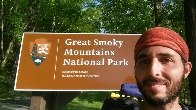 Joshua Yearout is now hiking in the Great Smoky Mountains National Park. The Appalachian Trail goes through the park. (Joshua Yearout)