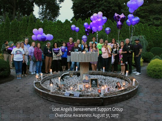 Members of the Lost Angels Bereavement Group. The group
