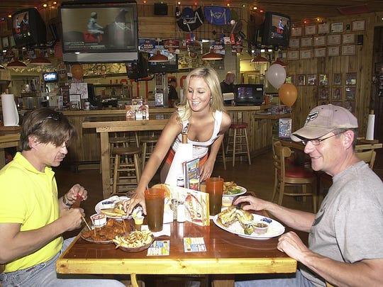 The Hooters restaurant in Lansing on Edgewood Boulevard has served customers since 2001.