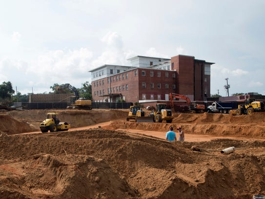 Construction continues on Tuesday, Sept. 19, 2017,