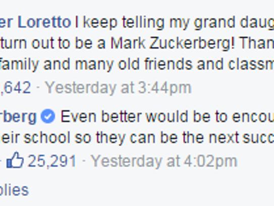 "Mark Zuckerberg encourages young women ""to be the nerd."""