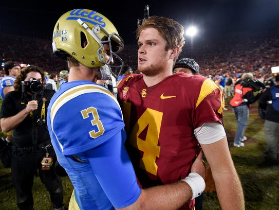 Josh Rose, left, and Sam Darnold are expected to be