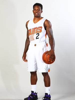 Phoenix Suns guard Eric Bledsoe poses for a portrait during media day at Talking Stick Resort Arena.