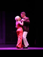 Crystal Jones plays Eva Peron and Ed Tracey plays Juan