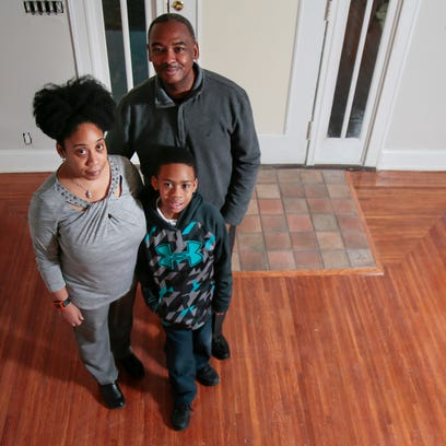 From left: Josette, Martess and son TaiSean, 9, pictured,