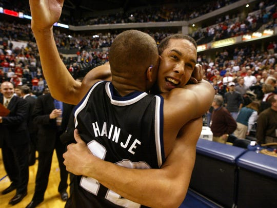 Led by Hainje, Butler defeated Indiana in 2001. Hainje got a hug from Joel Cornette after the win.  Butler didn't make the NCAA tournament despite a 25-5 record. Indiana was  the eventual NCAA runner-up.