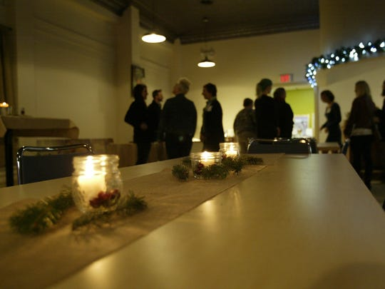 Visitors mingle during the Nourish Farms open house