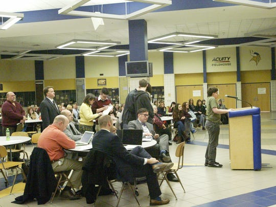 About 80 parents and students were present in support of the charter schools renewal, and approximately a dozen spoke during the community input portion Tuesday, Feb. 23.