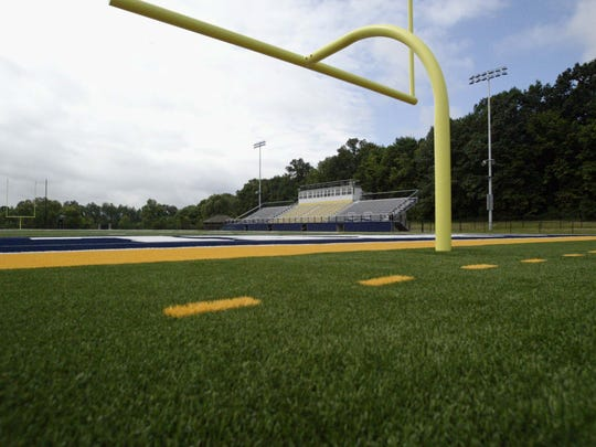 Lakeland University is nearly finished Aug. 11, 2017, with a project to install artificial turf and make other improvements to its football and soccer fields.