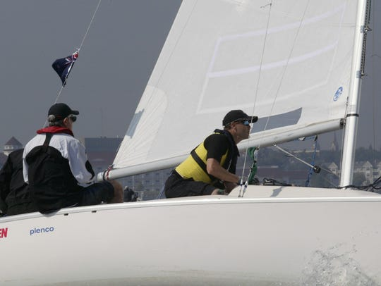 A Blind Match Racing World Championship teams prepares