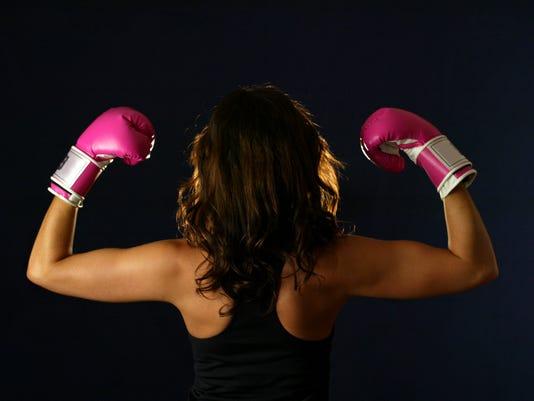 Female boxer.