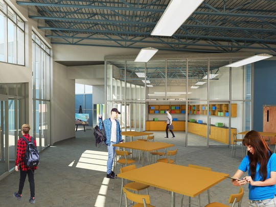 Rendering of the interior of a proposed $4.4 million STEAM building at Mahwah High School.