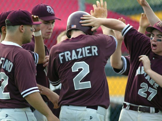 Toms River South's Todd Frazier celebrates with his